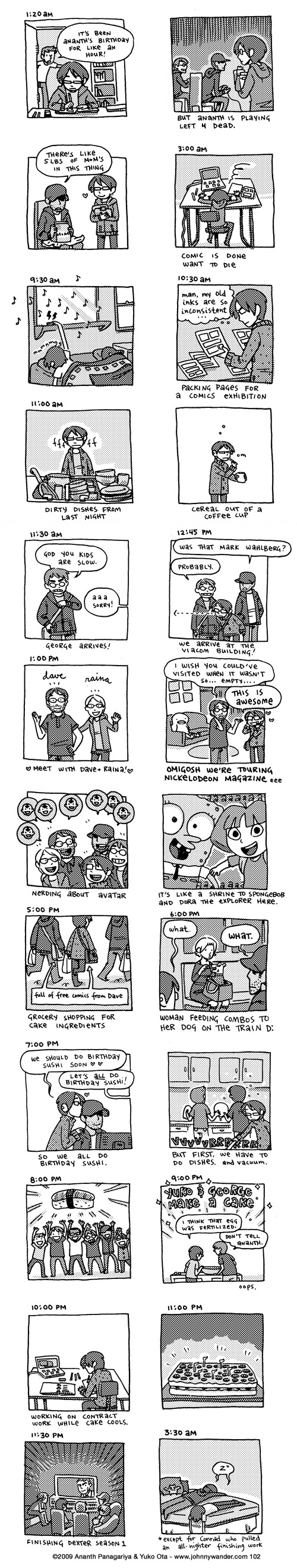 102: hourly comics: october 6th 2009