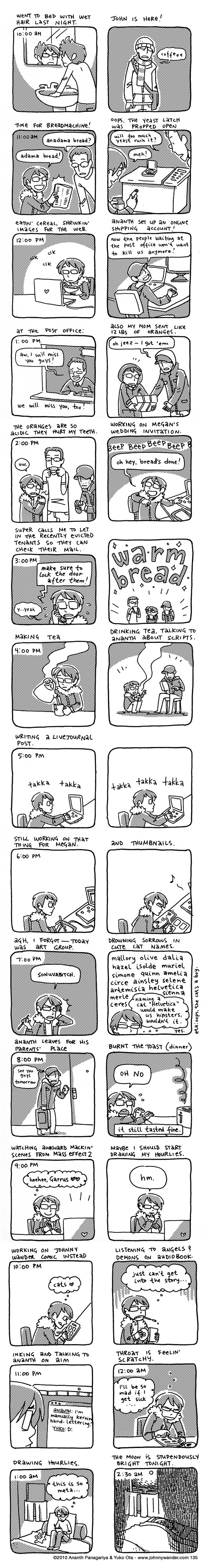 135 - hourly comics: february 1st 2010