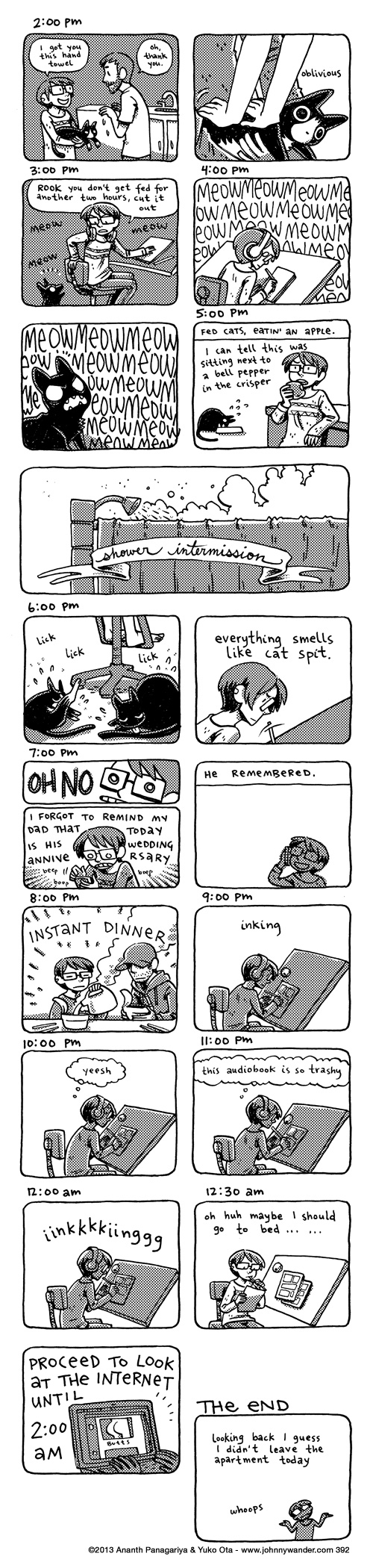 392 - hourly comics: february 2nd 2013
