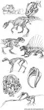 dinosaur gesture drawings forever